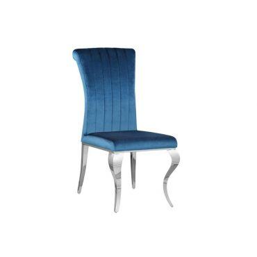 Cabriole Teal Velvet Dining Chair