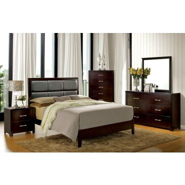 Calvina Bedroom Furniture Espresso Finish