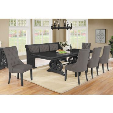Calypso Traditional Style Dining Table Set