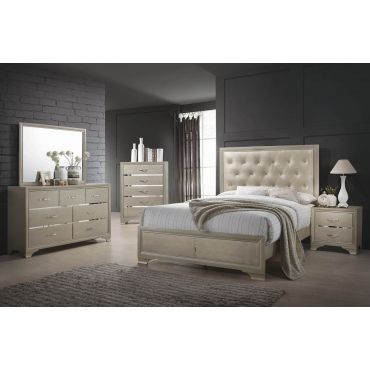 Camelia Bedroom Furniture Champagne Finish