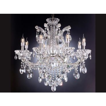 Marseille Crystal Chandelier 8 Candle Light