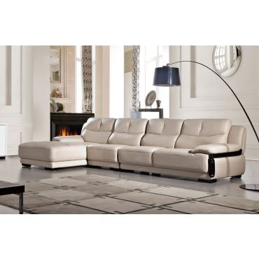 Carlotta Light Grey Modern Sectional