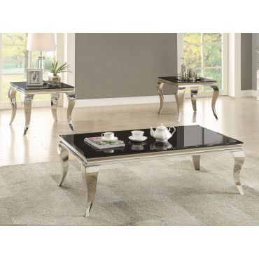 Carnell Modern Glass Top Coffee Table