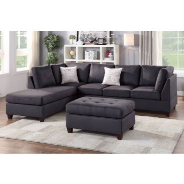 Casablanca Ebony Microfiber Sectional Set