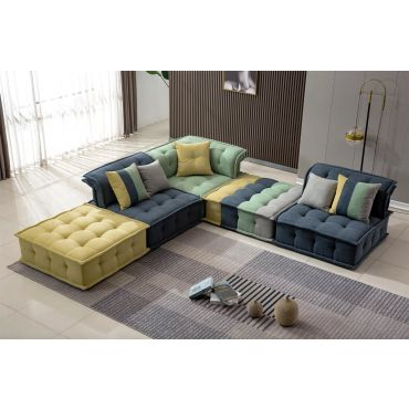 Cathedral Multi Color Modular Sectional