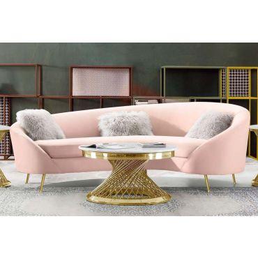 Barrett Blush Velvet Sofa