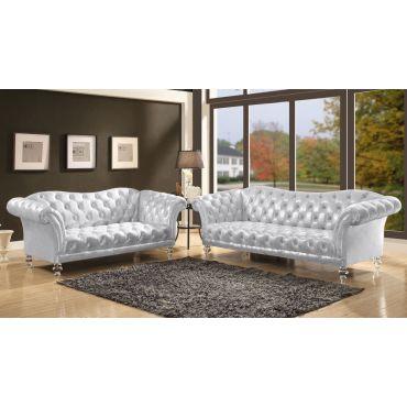 Centralia Chesterfield Sofa Acrylic Legs