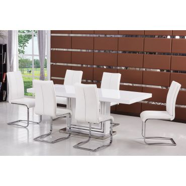 Centro White Modern Dining Table