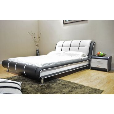 Cerchio Modern Leather Bed