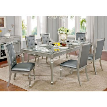 Chadoni Silver Finish Dining Room Furniture