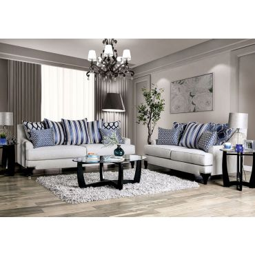 Charley Light Grey Chenille Sofa