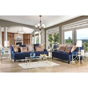Charley Contemporary Style Fabric Sofa