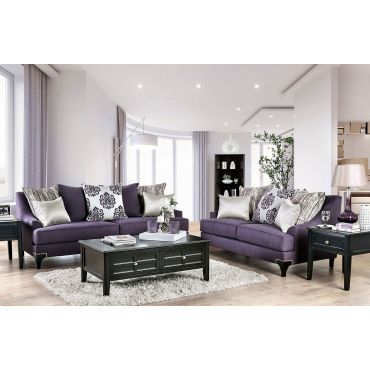 Charley Purple Chenille Sofa
