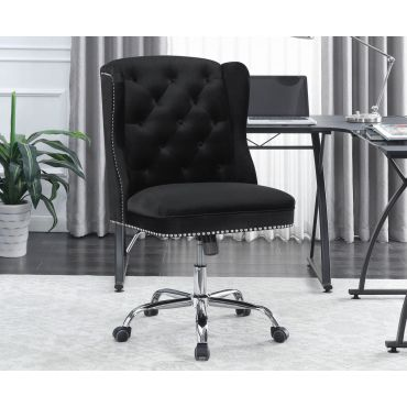 Chester Black Velvet Office Chair