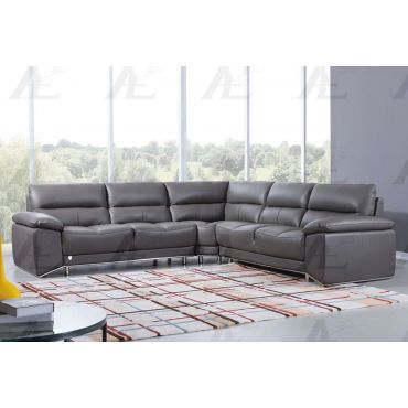 Bourlette Modular Sectional Gray Leather