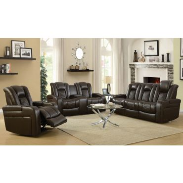 Chiron Dark Brown Power Recliner Sofa