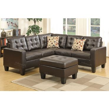 Circa Casual Sectional Tufted Leather