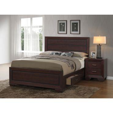 Claran Contemporary Storage Bed