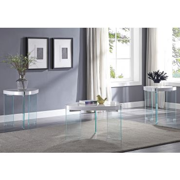 Clarice White Floating Coffee Table