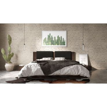 Claudia Low Profile Bed With Two Stands