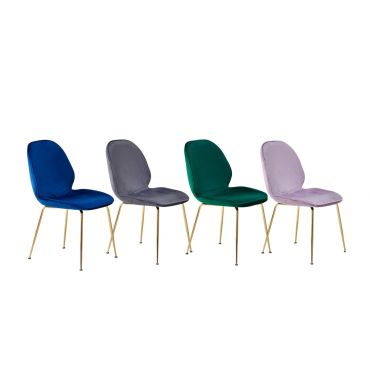 Cleland Velvet Fabric Dining Chairs