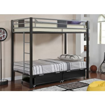 Clifton Modern Twin Over Twin Bunkbed