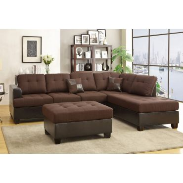 Clover Linen Fabric Sectional Set