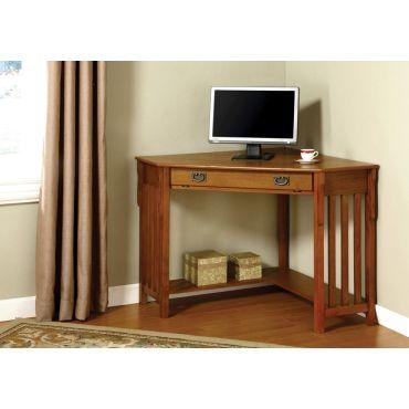 Toledo Oak Finish Corner Desk