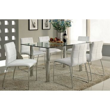 Kona Formal Glass Top Dining Table