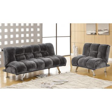 Marybell Grey Fabric Futon