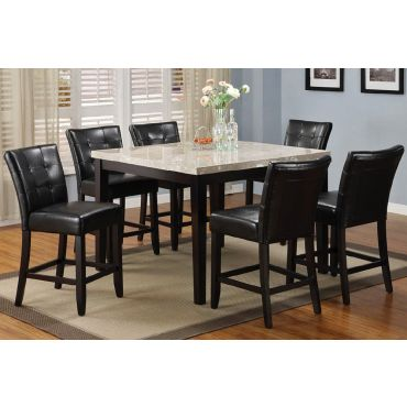 Marion Marble Top High Table Set