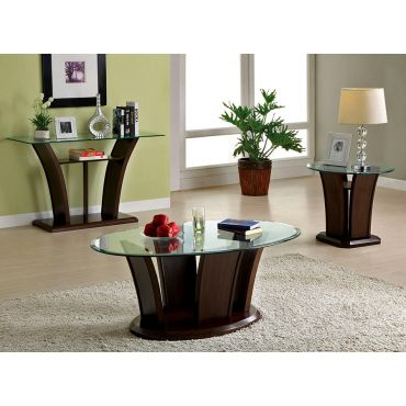 Keystone Modern Glass Coffee Table
