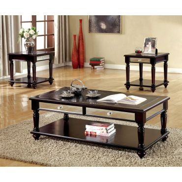 Race Traditional Style Coffee Table Set