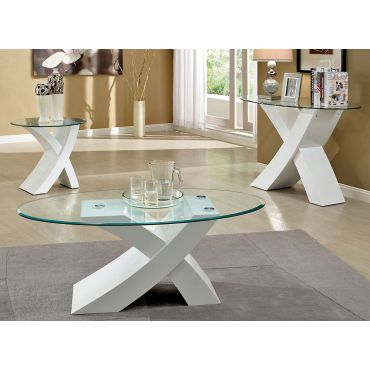 Xtres White Lacquer Coffee Table
