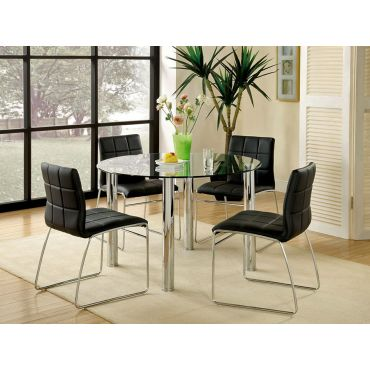 Kona Round Glass Top Table Set
