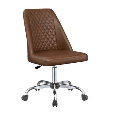 Coby Brown Leather Office Chair