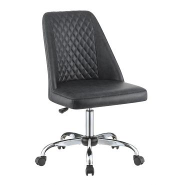 Coby Grey Leather Office Chair
