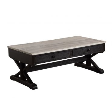 Coleville Marble Top Storage Coffee Table