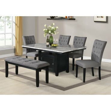 Coleville Faux Marble Dining Table Set