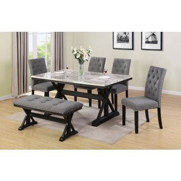 Coleville Dining Table With Upholstered Chairs