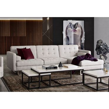 Colvert Beverly Linen Sectional Bed