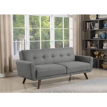 Conall Grey Linen Sofa Bed