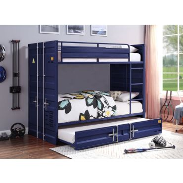 Container Blue Bunkbed Industrial Style