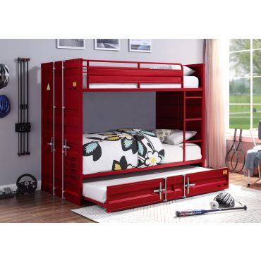 Container Red Bunkbed Industrial Style