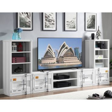 Container Media Center White Finish
