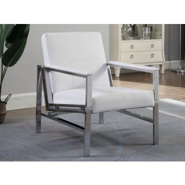 Cora Modern White Accent Chair