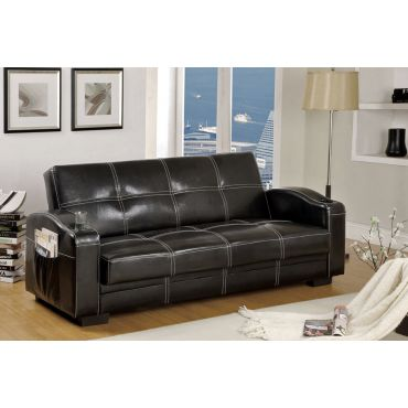 Corona Black Sofa Bed With Storage