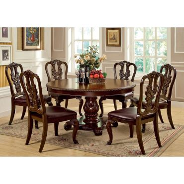 Coronado Cherry Finish Dining Table Set