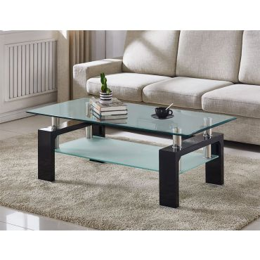 Camila Glass Top Coffee Table