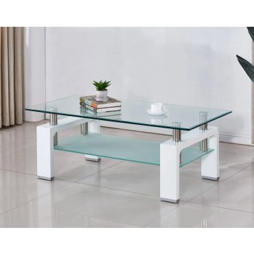 Costar White Lacquer Coffee Table